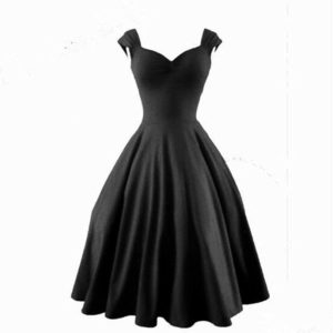 Audrey-Hepburn-Dress-1950S-60S-Vintage-Rockabilly-Dress-Party-Evening-Elegant-Swing-50s-Dress-for-Women