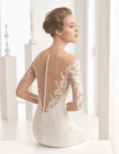 Transparent bridal dress
