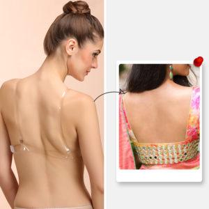 Transparent bra back for low back