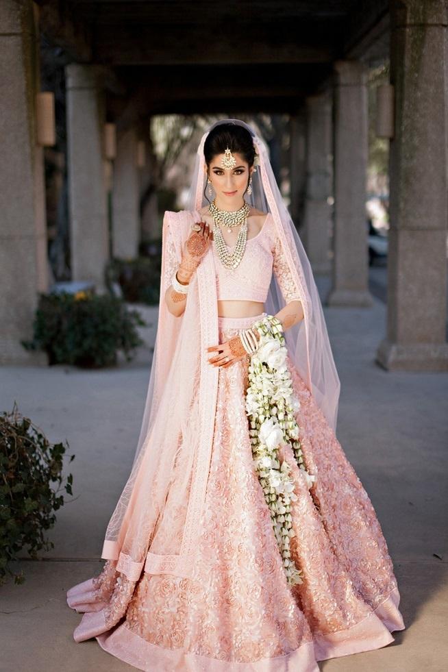 Pastel Bridal Dress